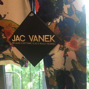 86d0402bfa722 Jac Vanek Floral Long Sleeve Crop Top